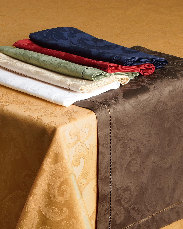 "Sferra Table linens & accessorys PLUME JACQUARD 70"" X 144"" TABLECLOTH"