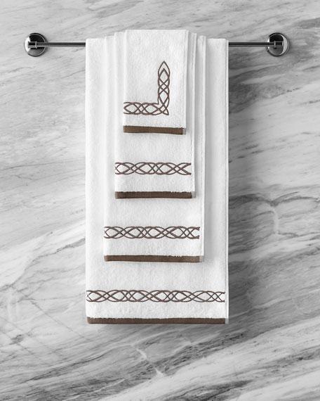 Togas Mia White/Brown Bath Towel