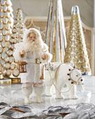 Bethany Lowe Winter Santa with Polar Bear