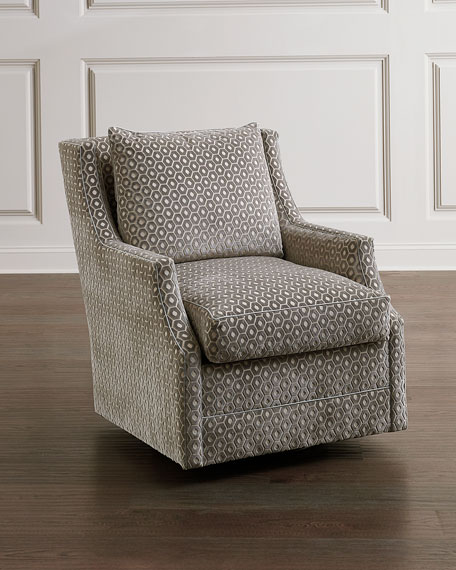 John-Richard Collection Wingback Scoop-Arm Swivel Glider Chair