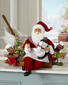 Karen Didion Originals Lighted Rolling Out Christmas Santa