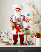 Karen Didion Originals Baking Up Goodies Santa
