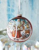 G. Debrekht Silent Night Santa, Limited Edition Glass