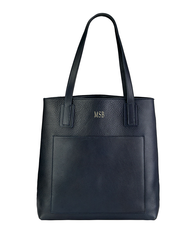 Metro Pebble Grain Leather Tote Bag