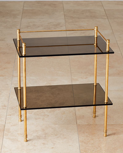 Gallery Gold Leaf & Smoked Glass End Table