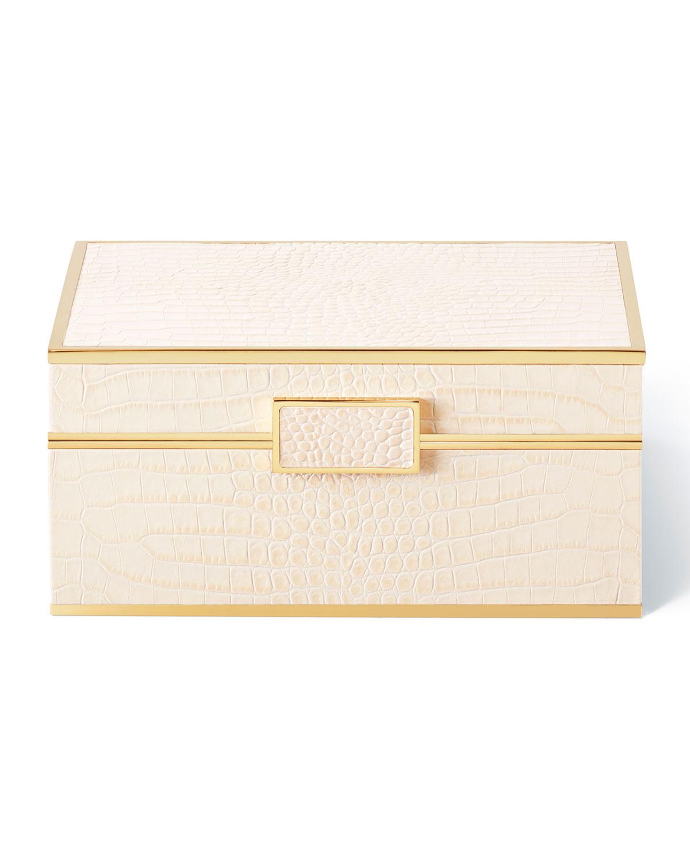 Aerin CLASSIC CROC JEWELRY BOX - SMALL