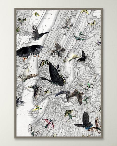 "New York Butterfly Map I"" Wall Art"