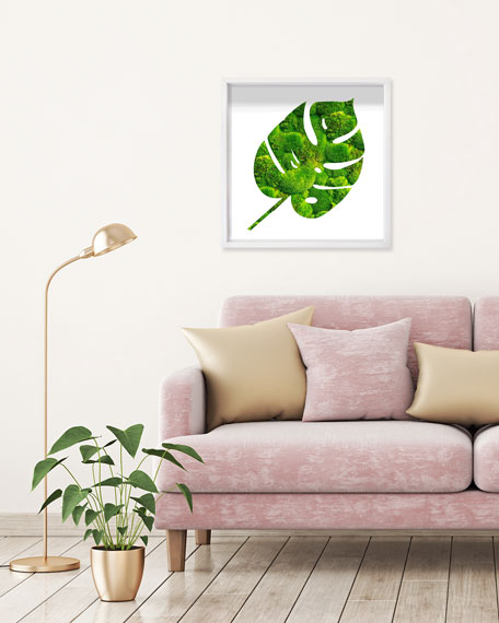"The Oliver Gal Artist Co. ""Monstera Leaf Shade Moss"" Live Art"