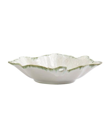 Vietri Foglia Stone White Large Serving Bowl