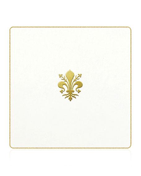 Bell'INVITO Fleur de Lis Coasters, Set of 18