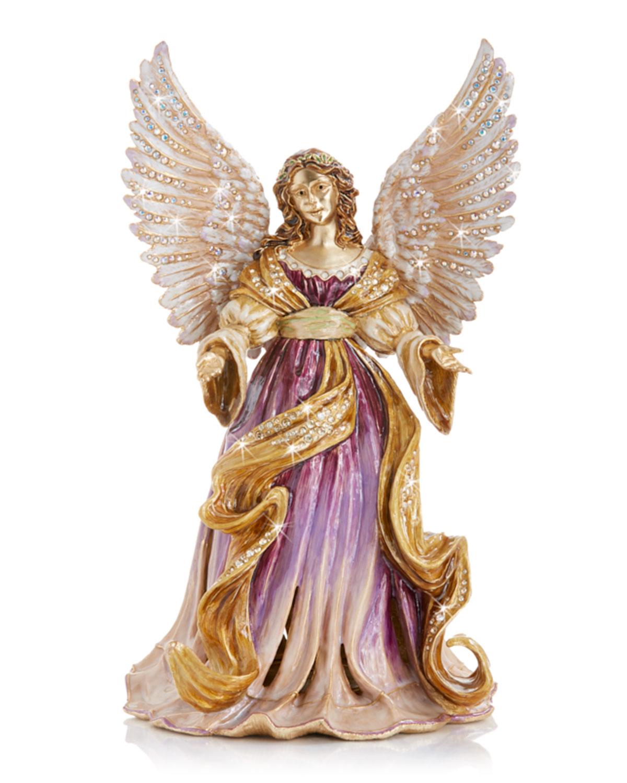Jay Strongwater RENAISSANCE ANGEL MUSICAL FIGURINE