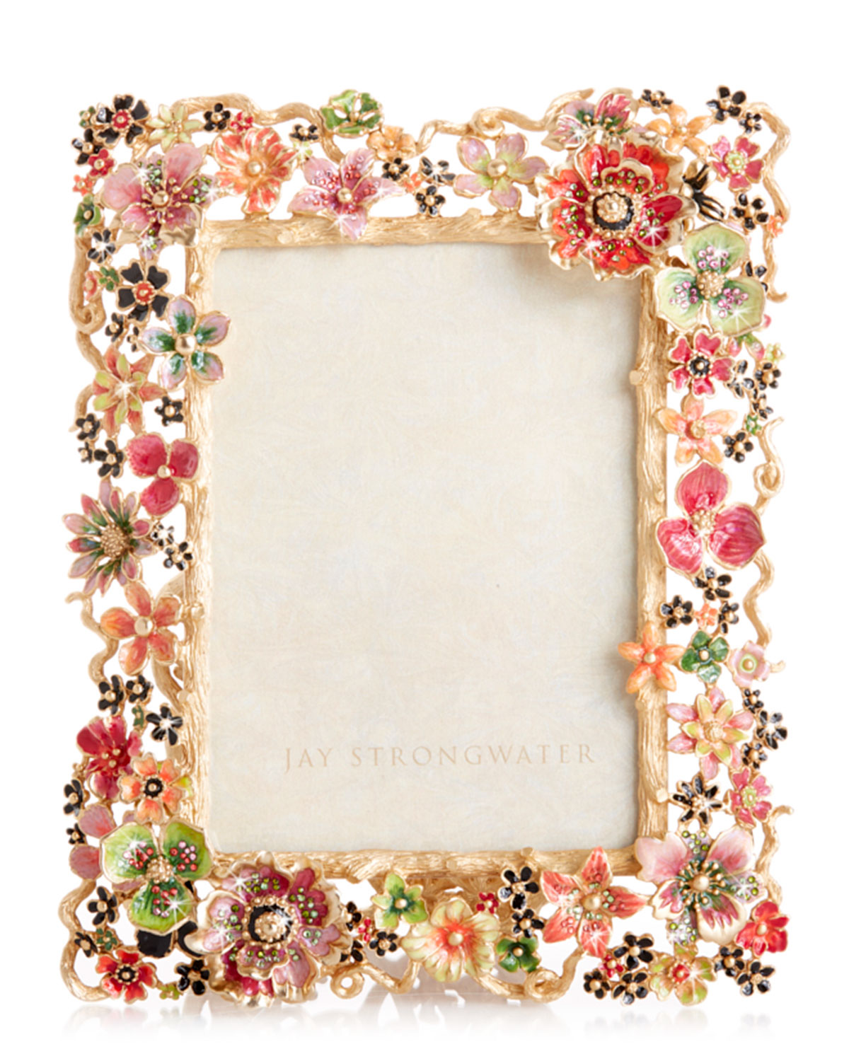 """Jay Strongwater CLUSTER FLORAL FRAME, 5"""" X 7"""""""