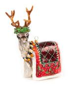 MacKenzie-Childs Glass Ornament Aberdeen Reindeer