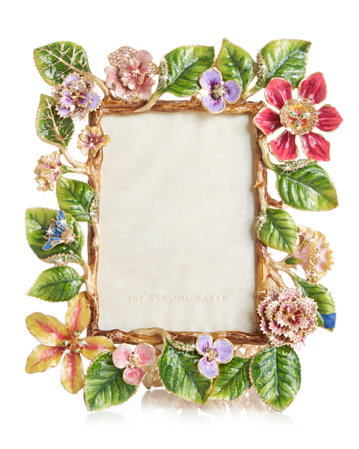 """Jay Strongwater DUTCH FLORAL FRAME, 5"""" X 7"""""""
