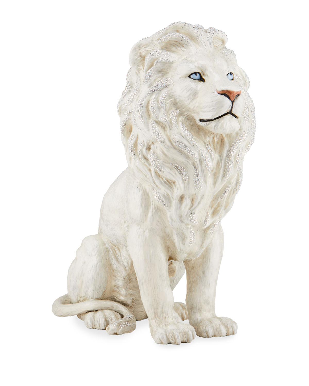 Jay Strongwater MAJESTIC LION FIGURINE