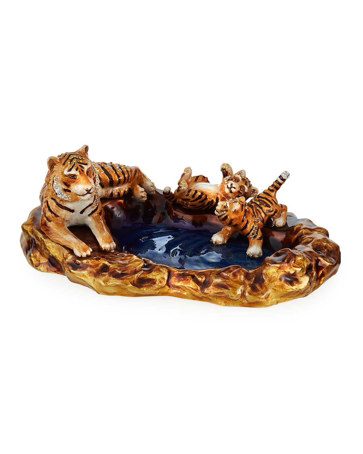 Jay Strongwater TIGER AND CUBS TRAY