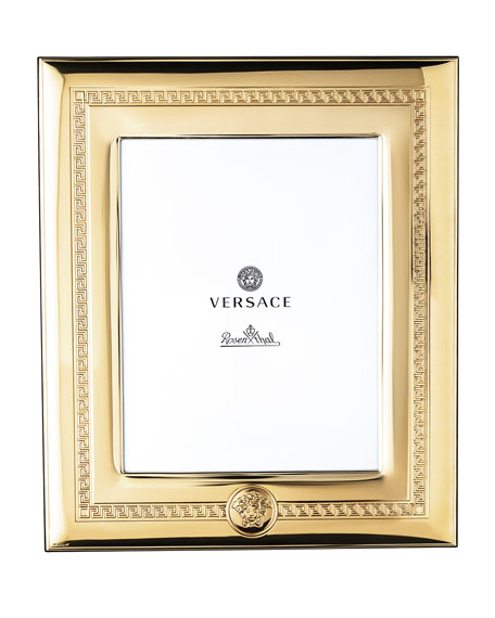 "Versace Gold Plated Photo Frame, 8"" x 10"""
