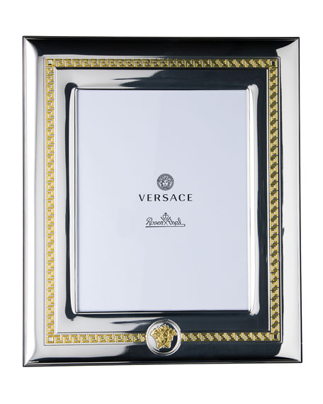 "Versace Silver & Gold Photo Frame, 8"" x 10"""