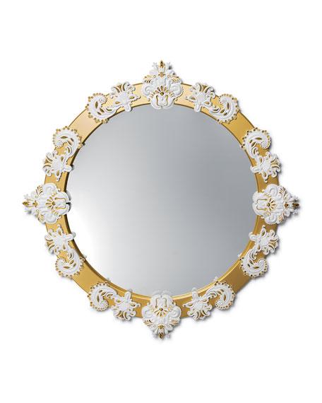 Lladro Large Round Wall Mirror