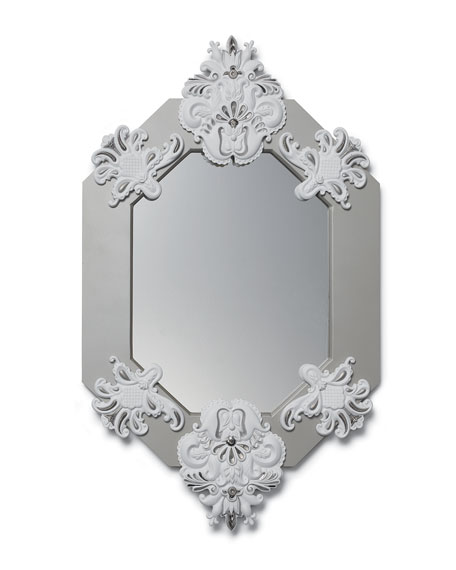 Lladro Framed 8-Sided Wall Mirror