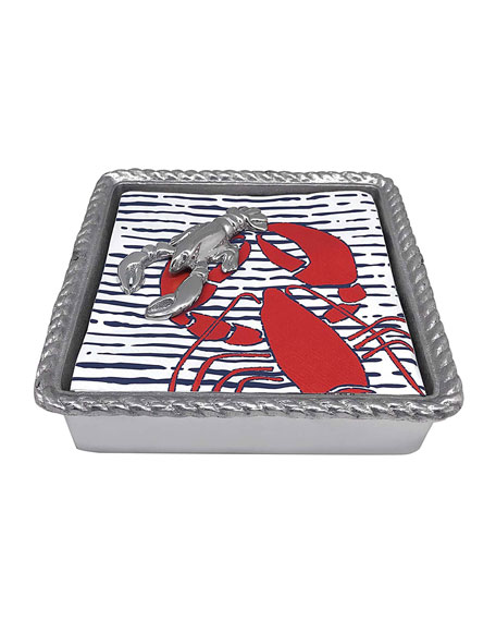 Mariposa Lobster Rope Napkin Box