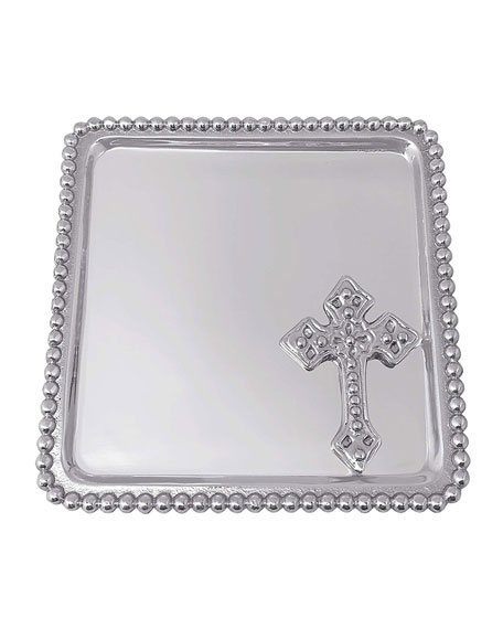 Mariposa Cross Beaded Statement Tray