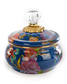 MacKenzie-Childs Flower Market Squashed Pot, Lapis