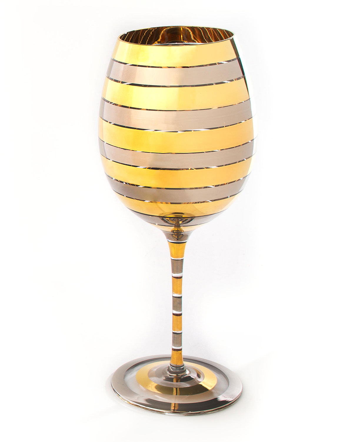 Mackenzie-Childs GOLDEN HOUR RED WINE GLASS