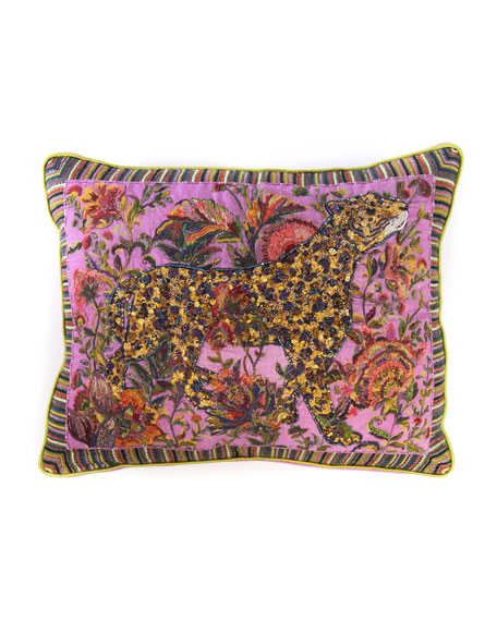 MacKenzie-Childs Leopard Lumbar Pillow