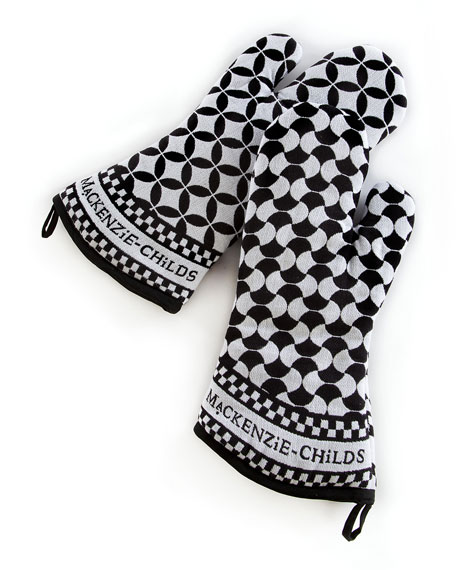 MacKenzie-Childs Geo Oven Mitts, Set of 2