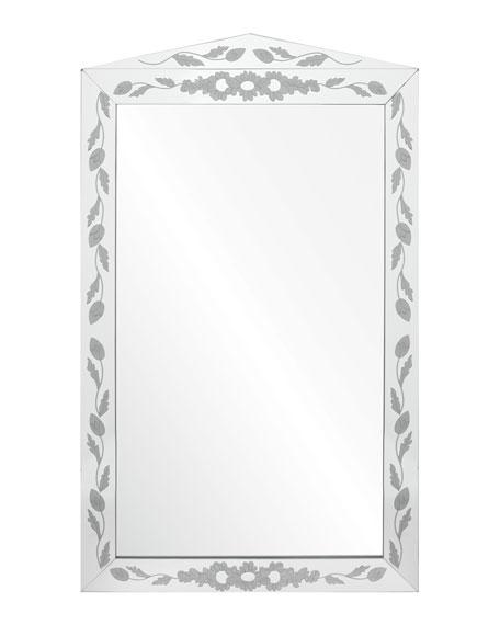 Mirror Image Etched Mirror Framed Mirror