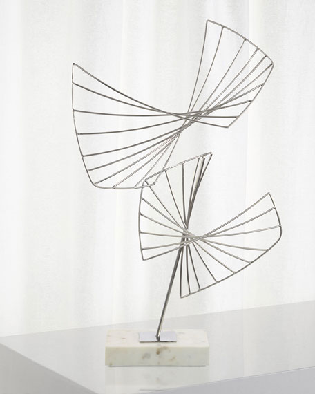 John-Richard Collection Abstract Sculpture on Cream Base
