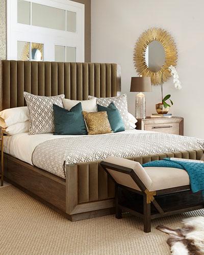 Queen Bed Neiman Marcus, Queen Upholstered Platform Bed Frame With Legs Jubilee Mattress