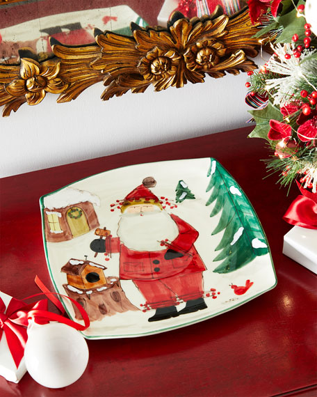 Vietri Old St. Nick 2020 Limited Edition Square Platter