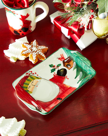 Vietri Old St. Nick 2020 Limited Edition Small Rectangle Platter