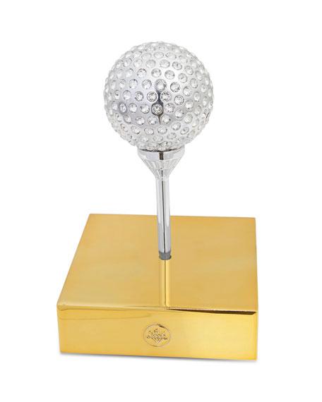 Crystamas Swarovski Golf Ball of Bling Decor