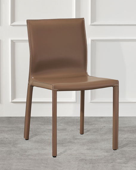 Interlude Home Pair of Bianca Dining Chairs, Cappuccino