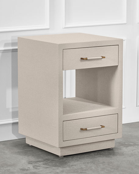 Interlude Home Taylor Small Bedside Chest, Caribbean Sand