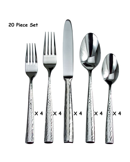 Ricci Silversmith 20-Piece Anvil Flatware Set