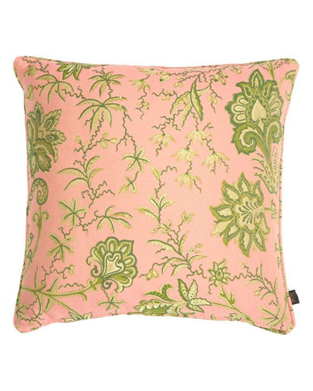 House of Hackney Indienne Amaranth Pink Large Jacquard Pillow