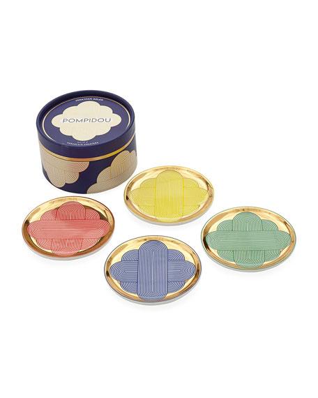 Jonathan Adler Pompidou Coasters, Set of 4