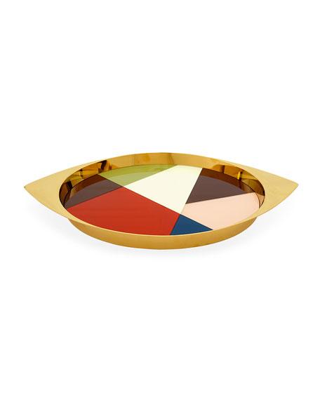 Jonathan Adler Harlequin Fractal Glass Tray
