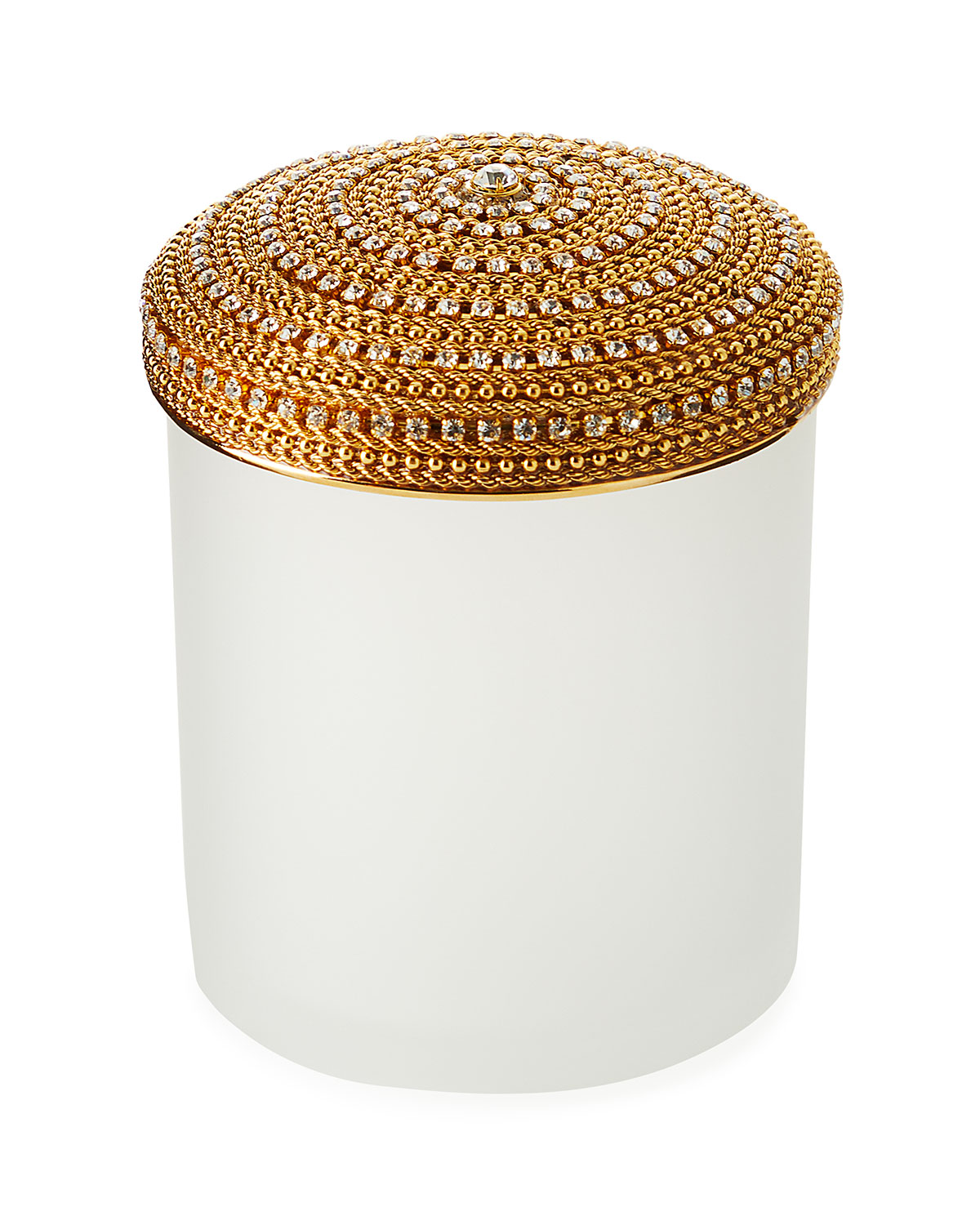 Mike & Ally ARCHIE SOLID CHAIN ROUND COTTON SWAB CANISTER
