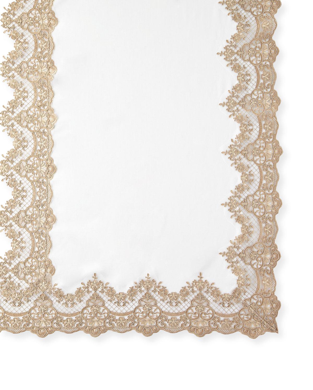"Sferra Table linens & accessorys ANTIQUE LACE 72"" X 144"" TABLECLOTH & 12 NAPKINS"