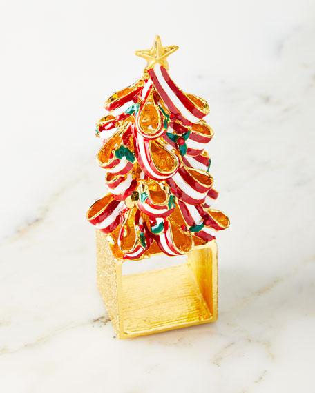 Kim Seybert Holiday Tree Napkin Rings, Set of 4