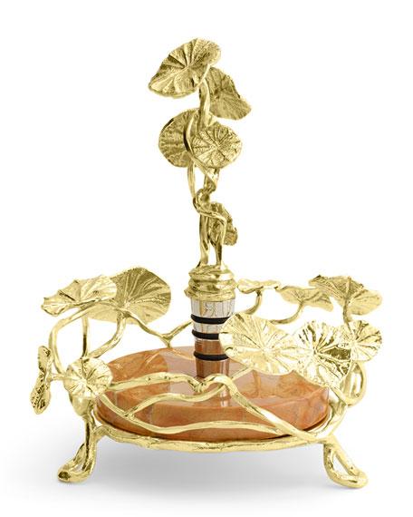 Michael Aram Monet's Garden Sunrise Wine Coaster & Stopper Set