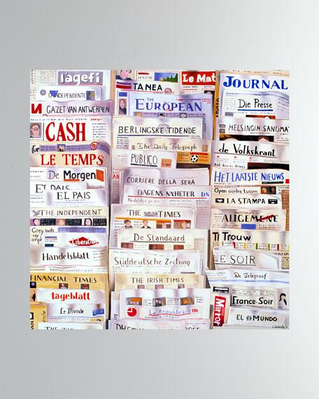 "DECHAMBY DESIGN ""Newspapers"" Fine Art Print"