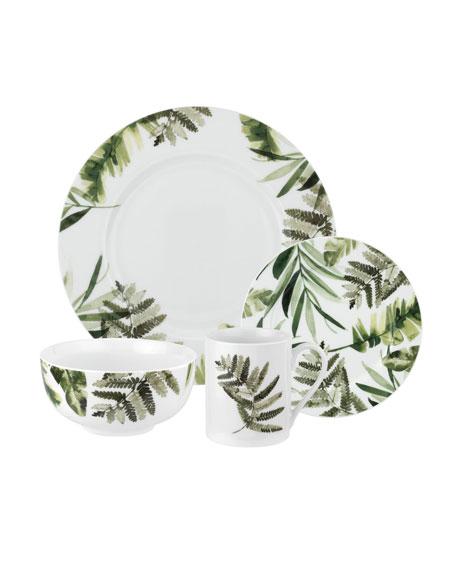 Spode Pressed Ferns 16-Piece Dinnerware Set