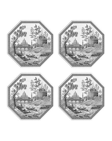 Spode Heritage Rome Octagonal Plates, Set of 4