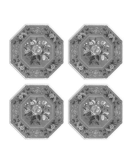 Spode Heritage Botanical Octagonal Plates, Set of 4